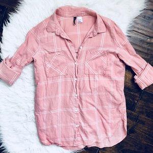 H&M Pink Button-down Shirt